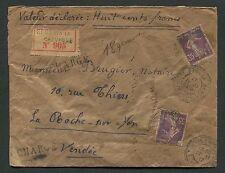 FRANCE R-sceau-lettre 1917 Saint-Denis-La Roche sur Yon d6924
