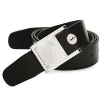 Versace Collection Engraved Medusa Black Leather Belt Size 105 / 42 $295 Italy