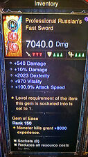 Diablo 3 modifizierte Waffen Level 1 - 70 in Minuten Xbox One Softcore legendären Artikel