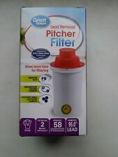 NEW! Great Value Pitcher Filter Fits Brita Pur Culligan GE DuPont (Pack of 2)