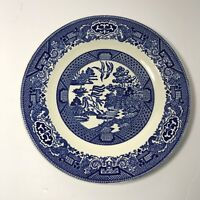 "Blue Willow Ware USA by Royal China Cavalier Ironstone 9"" DINNER PLATE"