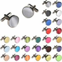2 Pcs Stainless Steel Mens Wedding Party Gift Shirt Cuff Links Cufflinks Sale