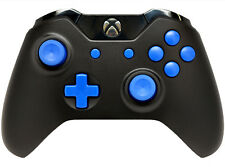 """BLACK/BLUE"" XBOX ONE RAPID FIRE MODDED CONTROLLER 40 MODS COD BO 3 IW GOW 4"