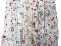 2pcs Extra Large 120cmx120cm Muslin Squares Cloths Bibs 100% Cotton GIRL Designs