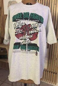 Vintage 'Three Big Fights One Big Night!' Holyfield Tshirt XL