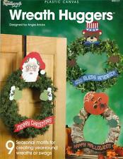 WREATH HUGGERS PLASTIC CANVAS Patterns to Make Your Own Wreaths Crafts Book  NEW