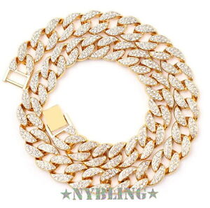 16MM ICED Miami Cuban Choker Chain Necklace or Bracelet Hip Hop Mens Jewelry