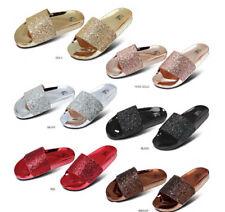 New Women Glitter Bling Bling Slide Sandals Flip Flops Size 7 8 9 10 11