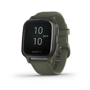 Garmin Venu SQ Music moosgrün/schiefer Smartwatch (Gesundheits- & Fitnessfunkt.)