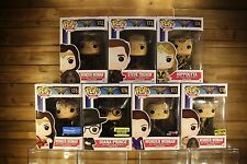 Funko Pop! WONDER WOMAN Complete Set of 7 (including #176 DIANA PRINCE) #172-178