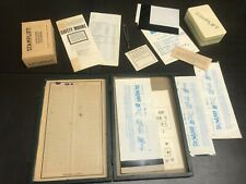 Stamp Supply LOT Lift Mount Tweezers Showgard Sheets Papers Box Vintage 1960s
