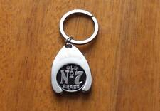 Jack Daniels key chain ring Old No 7 brand metal token coin cart shop new rare