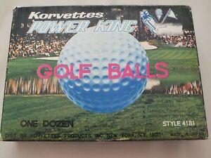 FULL BOX OF VINTAGE POWER KING GOLF BALLS
