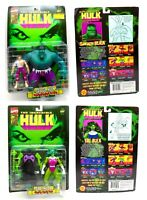 The Incredible Hulk She Hulk (Crossbow) & Savage Hulk (Transforming Action) NEW!