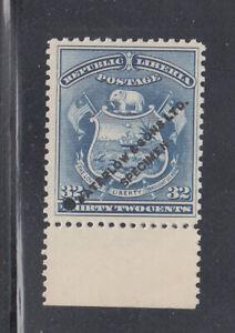"""Liberia # 46 MINT Waterlow SPECIMEN in STEEL BLUE With """"."""" & Hole 1892"""