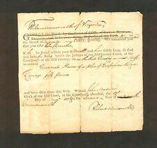 Richard Madison - August 1777 Augusta County Va Warrant on British Printed Form