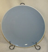 """denby 11"""" dinner plate 1809 gray with off white outer ring pre-owned"""