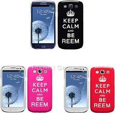 """Para Samsung Galaxy S3 i9300 """"Keep Calm y Ser Reem"""" imagen cubierta rígida cubierta trasera"""