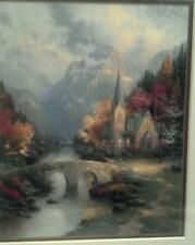 The Mountain Chapel Print by Thomas Kinkade in 11 x14 Matte & Framed with COA