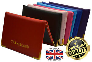 New Unisex Travel Case Bus Pass Rail Oyster ID Provisional License Card Holder