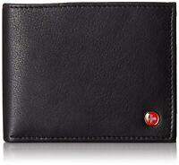 Alpine Swiss Mens RFID Blocking Leather Wallet Multi Card High Capacity Bifold