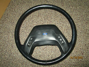 87-91 FORD F-150. F-250, F-350. BRONCO LEATHER STEERING WHEEL W/CRUISE CONTROL