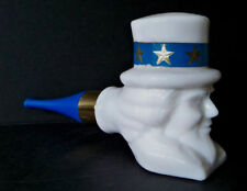 Vintage Avon Wild Country After Shave 3 oz Glass Pipe Usa Patriotic Milk Glass