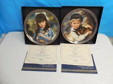RARE! KITTEN & PUPPY VINTAGE RETIRED COLLECTOR PLATES SANDRA KUCK RECO CHINA