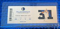 LUKA DONCIC Triple Double Ticket Stub 3/4/20 Dallas MAVS vs ZION Pelicans