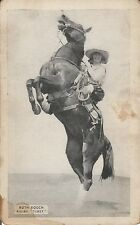 COWGIRL RUTH ROACH REARING TONY HORSE - VINTAGE ARCADE CARD (see description)