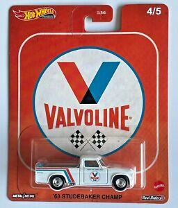 Hot Wheels '63 Studebaker Champ White #4 2020 Pop Culture Vintage Oil Valvoline