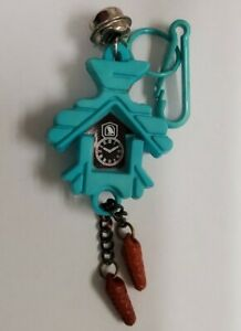 Vintage 80's Charms Cuckoo Clock ⏰ Bird 🐦 House Bell 🔔 Clip Necklace keychain