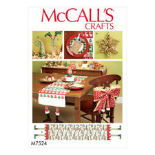 McCalls Sewing Pattern Christmas Table Runners, Chair Back Cover M7524OSZ