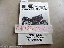 1998 1999 2000 2001 2002-2006 KAWASAKI NINJA 250R GPX250R Service Manual Supp