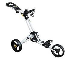 Masters ICart Go 3 Wheel Push Golf Trolley White