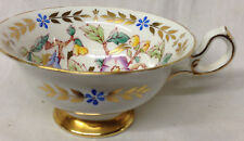 ROYAL CHELSEA ENGLAND BONE CHINA 385A TEACUP CUP ONLY FLOWERS GOLD FOOT