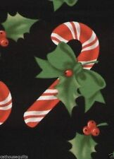 Christmas Candy Canes Quilt Fabric - Free Shipping - 1 Yard