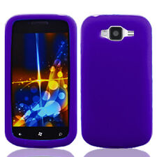 For Samsung Focus 2 i667 Rubber SILICONE Skin Soft Gel Case Phone Cover Purple