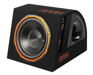 """New Edge EDB12A 12"""" Active Car Subwoofer Built in AMP Inc Wiring Kit"""