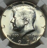 1970-D NGC MS64 Silver Kennedy JFK Half Dollar 50c ~ KEY DATE Uncirculated Gem!