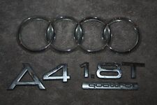 2002-2007 AUDI A4 1.8T 1.8 T QUATTRO TRUNK LID EMBLEM CHROME SET 03 04 05 06