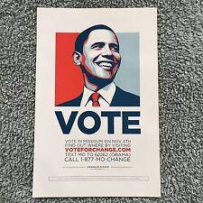 """President Barack Obama : """"VOTE"""" poster Limited Edition Hope - 2008 Election"""