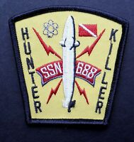 USS LOS ANGELES SSN-688 ATTACK SUBMARINE EMBROIDERED PATCH 3 INCHES