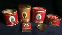 5 Different Antique Prince Albert Tobacco Tins