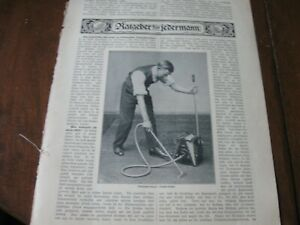 1910 Photo Print / Article - The BABY DAISY Vacuum Cleaner