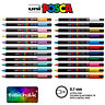 Posca Paint Marker PC-1MR 0.7mm Pen Ultra Fine Metal Glass Pin Nib *22 Colours*