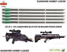 5 x Crossbow Bolts / Archery Arrows 100% Carbon Fibre Fit The Pioneer Airbow New