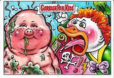 GARBAGE PAIL KIDS ADAM GEDDON DUAL ARTIST SKETCH CARD JON GREGORY SMOKIN JOE