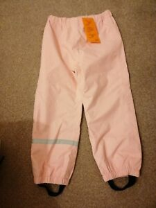 Girls H&M pink  Waterproof Trousers Age 5_6 Years