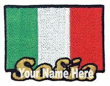 Flag of Italy Custom Iron-on Patch With Name Personalized Free